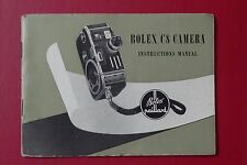 BOLEX C8 INSTRUCTION MANUAL -ORIGINAL