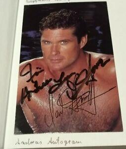 Autogrammkarte, David Hasselhoff, 90er, Sammeln, Merchandising