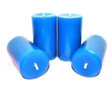 4 scented pillar Candles Homemade lavender lilac rose red purple blue