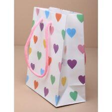 12 White Coloured Heart Gloss Print 15x11.5x6cm Wedding Favour Gift Bag