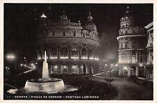 BR72471 genova piazza de ferari fontana luminosa real photo italy