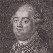 Portrait XVIIIe Louis XVI Roi de France Versailles Révolution Française 1796