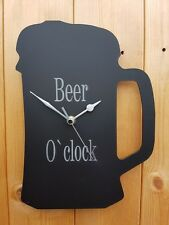 BEER GLASS CLOCK BEER O`CLOCK FUN CLOCK FOR SHED PUB BAR GAMES ROOM KITCHEN