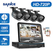SANNCE 4CH 1080N DVR LCD Monitor TVI 1500TVL IR Home Security Camera System
