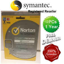 Norton ( Internet ) Security Antivirus All In ONE 10 PCs 1 Year Retail 2018 UK