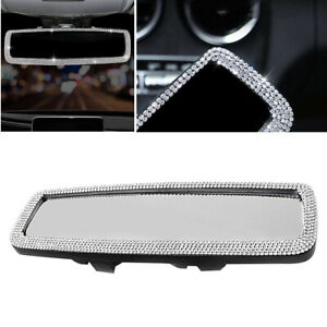 Bling Diamond Car Interior Rearview Mirror Bling Rhinestone Decor Accessories