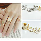 Fashion 3Pcs Top Of Finger Over The Midi Tip Finger Above The Knuckle ring set