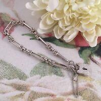 Vintage Jewellery Sterling Silver Chain Bracelet Padlock Clasp Antique Jewelry