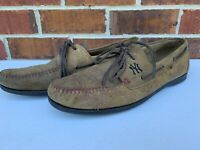 Allen Edmonds Sandlot New York NY Yankees Camel Brown Boat Shoes Size 13 D