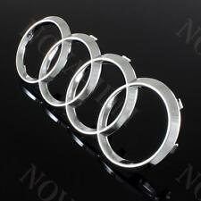 AUDI Chrome Front Grille Rings Badge Emblem for A3 S3 A4 S4 RS4 A5 S5 A6 S6 TT