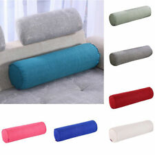Round Cervical Roll Bolster Pillow Cushion with Removable Washable Cover