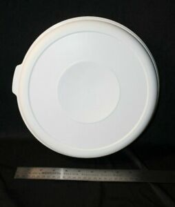 Rubbermaid Round Servin Saver #5 22 Cup Almond REPLACEMENT Lid ONLY!! 0377 EUC