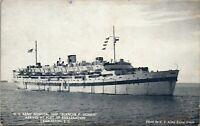 Blanche F Sigman Charleston SC Port US Army Hospital Ship Vintage Postcard EE1