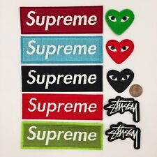 10pc Supreme Stussy Eye Heart Iron On Patches Embroidrered Free Usa Shipping