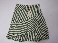 Skirt Women Tania Max Studio Specialty Products Knit Stretch Green Stripe XS $68