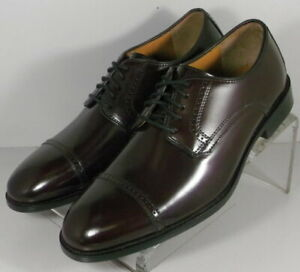 151773 SP50 Mens Shoes Size 8.5 M Dark Burgundy Leather Lace  Up Johnston Murphy