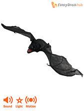 SCARY Lifesize Evil Bat Light Up Moving Halloween Prop Party Decoration Animated