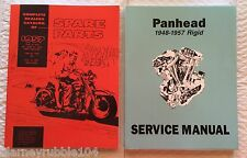 Harley Panhead Parts Book Service Manual Combo 1948-1957