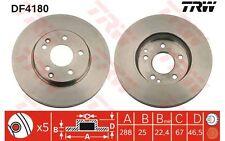 TRW Juego de 2 discos freno Antes 288mm ventilado MERCEDES-BENZ CLASE C E DF4180
