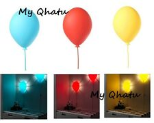 IKEA Child's Wall Light Lamp Balloon shaped + LED Bulb, Blue, Yellow Dromminge