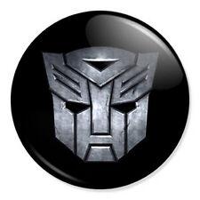 "Transformers Logo 25mm 1"" Pin Badge Button Modern Film Artwork Optimus Prime"