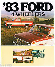 1983 FORD 4-Wheel TRASMISSIONE CAMION BROCHURE: ickup ,HD,F150,350,Ranger,serie,
