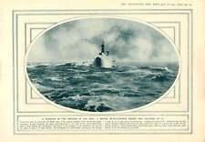 1915 British Battleship Making Bad Weather Vosges Barricade