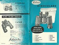 Kalimar Binoculars Vintage Booklet Photos Specifications Many Models
