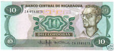 NICARAGUA 10 CORDOBAS 1985 UNC REPLACEMENT