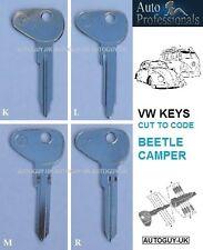 VOLKSWAGEN BEETLE & CAMPER VAN - BUS KEYS CUT TO YOUR CODE - EARLY BAY T1 - T2