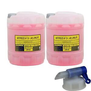 40L Antigel Type G12 + MANNOL Mn Antigel 40°C) Rose + Robinet de Vidange