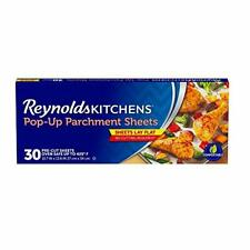 Reynolds Kitchens Pop-Up Parchment Paper Sheets, 30 Count (Pack of 1), White