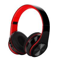 Wireless Bluetooth 5.0 Headphone Foldable Earphone Stereo Super Bass Headset Mic