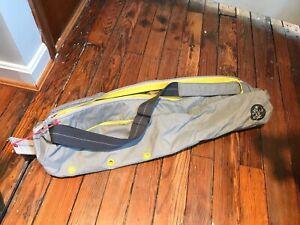 "New Manduka Go Steady Large Yoga Mat Carrier 26"" Pewter"