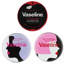 Vaseline Lip Therapy Limited Edition Tins Lulu Guinness, - Original, Red, Mirror