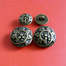 Set 10 Heavy Brass Metal Plate 2 Size Shank Suit Sew On Buttons 15mm 23mm ST36