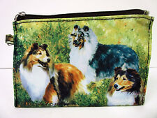 New Sheltie Shetland Sheepdog Dog Zippered Pouch Ruth Maystead 3 Shelties Dogs