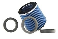 """89mm INLET HIGH POWER CONE AIR FILTER BLUE FIT 2.5""""/2.75""""/3"""" PIPES"""