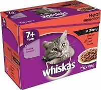 Whiskas 7+ Pouch Meat Selection CIG  (4x12) - 726514