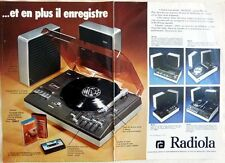 CHAINE STEREO / TOURNE-DISQUES RADIOLA => coupure de presse 2 pages 1975