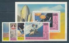 558365) Elfenbeinküste Nr.680-3+Bl.17** Raumfahrt