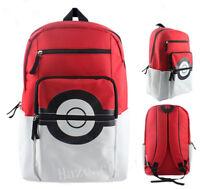 Pokémon Poke Ball Nylon Sac à dos Cartable Portable Voyage Sac Unisex