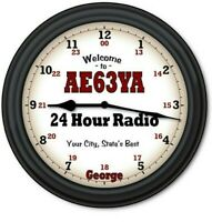 Personalized Ham Radio WALL CLOCK -  Transceiver Shack - GREAT GIFT