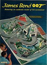 1965 ADVERTISEMENT 2 PG James Bond 007 Road Race LeMans Play Toy Set