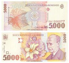 Romania 5000 Lei 1998 P-107 Banknotes UNC
