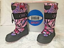 Ladies 10M Cougar MOONWALKER Boots Waterproof Pink/Purple Cougar Sport Boots EUC