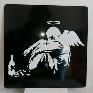 Banksy FALLEN ANGEL Laptop Mat Desk Mat - LARGE -picture & BED LAPTOP REST/tray