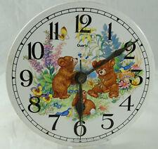 Ceramic Child's Clock Face with Baby Animals