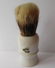 Mens vintage shaving brush White moulded handle Maker's mark illegible