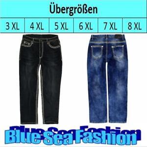 LAVECCHIA Übergröße Jeanshose Denim stone washed black blue Jeans Hose Gr.42- 60
